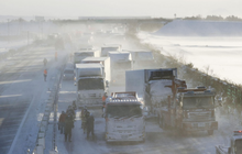 Nhật Bản: 134 ô tô lao vào nhau, 13 người thương vong