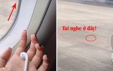 """Lên máy bay, cô gái """"đau đớn"""" nhìn 1 bên tai nghe AirPods rơi ngay trước mắt nhưng không thể lấy được"""