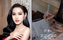 """Hoa hậu Đỗ Hà tự nhận """"chữ xấu gần nhất lớp"""", nhưng chữ viết tay ngoài đời liệu có xấu đến vậy?"""