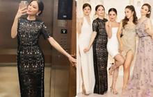 Diện bộ đầm hơi già so với tuổi 28 nhưng Linh Rin vẫn sang hết phần hội chị em hở bạo: Chiếm spotlight hơn cả Huyền Baby