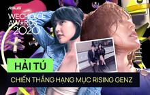 WeChoice 2020: Thời tới cản không kịp, Hải Tú vượt mặt Tlinh - MCK chiến thắng hạng mục Rising GenZ