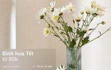 """Sắm bình hoa Tết từ 85k: Cắm hoa gì cũng đẹp, vụng mấy cũng được tác phẩm """"ra trò"""""""