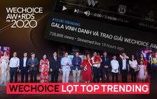 Sự kiện Gala trao giải WeChoice Awards 2020 lọt top 10 trending YouTube