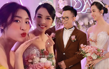 Cập nhật đám cưới Á hậu Thuý An tại TP.HCM: Cô dâu lộ diện cực xinh, Đỗ Mỹ Linh - Ngọc Hân rạng rỡ đến chúc phúc