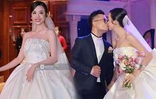 """Đám cưới Á hậu Thuý An tại TP.HCM: Cô dâu chú rể khoá môi cực ngọt, dàn khách mời """"xịn xò"""" quẩy tưng bừng!"""
