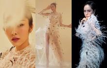 """Một chiếc váy 2 số phận: Hà Tăng kiêu sa khoe dáng chuẩn nữ thần Hy Lạp, Phương Linh ma mị lả lơi như """"yêu nữ"""""""