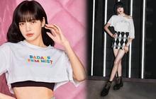 """Lisa có cả loạt áo phông chất lừ, diện lên là từ """"em gái quốc dân"""" thành chị đại cool ngầu tức thì"""