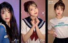 IU lại có chị em sinh đôi ở Trung Quốc, đến kiểu tóc lẫn makeup cũng y chang bản chính