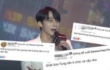 """Garena Free Fire cũng vạ lây vì drama """"trà xanh"""": Fanpage bị netizen kéo vào report tới tấp sau sự kiện ra mắt có Sơn Tùng"""