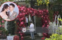 Đám cưới Phan Thành - Primmy Trương: Nhà gái dựng cổng hoa tươi hoành tráng trước biệt thự to đùng vật vã