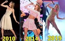 """Cả thập kỉ chỉ 1 dáng """"pose"""" khi hát, Taylor Swift nhận ngay danh hiệu """"nữ ca sĩ có cột sống khoẻ nhất""""?"""
