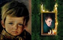 """Bức tranh """"Cậu bé khóc"""" bị nguyền rủa khiến cả nước Anh sợ hãi: Treo ở đâu là cháy ở đó trừ chính nó nhưng sự thật ẩn sau lại vô cùng kinh ngạc"""