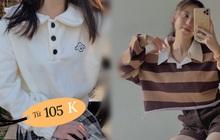 Trời lành lạnh hội con gái mặc áo nỉ siêu xinh, muốn áo rẻ lại xịn thì xem ngay mấy chiếc cực phẩm này, có cái chỉ 105k