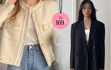 """Váy áo style Hàn xinh xỉu đang được sale: Từ 170k đã rinh được cardigan siêu """"iu"""", nhiều kiểu áo khoác sang xịn giảm 20%"""