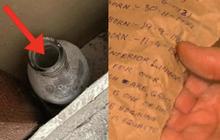 Cải tạo nhà ở, người đàn ông vô tình phát hiện bình thủy tinh giấu sau bức tường, bên trong chứa đựng điều ngạc nhiên hơn