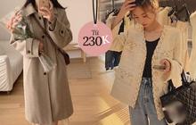 Loạt áo khoác Hàn vừa ấm vừa xinh hết chỗ chê đang sale, có cả mấy mẫu dạ tweed sang chảnh ưng cực