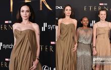 Angelina Jolie và các con đại náo thảm đỏ Eternals: Bà mẹ U50 o ép vòng 1 khủng sau 8 năm cắt ngực, Shiloh lột xác ngỡ ngàng