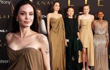 """Angelina Jolie """"cháy khét lẹt"""" trên thảm đỏ nhưng sự thật đằng sau bộ váy của 2 cô con gái mới là điều đáng nói"""
