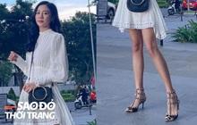 Văn Mai Hương khoe chân xinh dưới lớp váy ngắn, vô tình để lộ điểm lạ thường khiến fan lo lắng