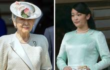 """Hoàng Thái hậu Nhật Bản """"không vui"""" vì cháu gái sắp kết hôn, nói lời xót xa khi cô công chúa chuẩn bị theo hôn phu thường dân rời gia tộc"""