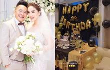 Bảo Thy tự tay tổ chức sinh nhật cho chồng đại gia Phan Lĩnh, chi tiết trên bánh kem hé lộ điều đặc biệt!