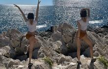 """Lisa """"xả ảnh"""" mặc bikini nơi đất Pháp, lần đầu phô diễn vòng 3 cực phẩm trước bàn dân thiên hạ"""