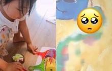 Con gái 5 tuổi vẽ tranh đoạt giải, mẹ hí hửng đem khoe bạn nhưng liền được khuyên báo cảnh sát, sự thật đằng sau bức vẽ quá đau lòng