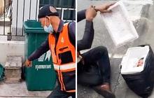 Tò mò mở thùng xốp vứt bên đường, tài xế công nghệ cứu mạng em bé xinh như thiên thần bị bỏ rơi