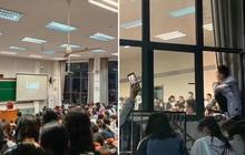 """Tiết học về tình yêu ở Đại học Vũ Hán khiến sĩ số lớp tăng vọt, sinh viên trèo cả lên cửa sổ để dự thính xem """"iu"""" là gì"""