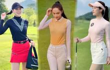 Style lên đồ chơi golf của sao nữ Vbiz: Các chị thú thật đi, thể dục thể thao hay là khoe dáng đây nào?
