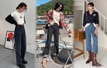 Gái Thái tuần qua lên đồ đơn giản, nhẹ nhàng còn gái Hàn lại năng động, phóng khoáng với đa dạng kiểu boots