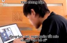 Nam sinh đang học online quên tắt mic để lộ tiếng bạn gái, 2 giây sau cả lớp nhắn vài dòng mà ngượng chín mặt