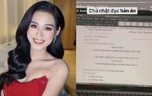 Hoa hậu Đỗ Thị Hà đăng ảnh giấy tờ kiện tụng, dân tình lo sốt vó, biết được sự thật mà hú hồn