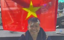 Nguyễn Thị Thu Nhi phải đến viện khâu 5 mũi sau khi giành được chiếc đai thế giới lịch sử