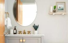 Phòng tắm nhỏ thế nào trông cũng vẫn sang chảnh nếu áp dụng mấy mẹo đánh lừa thị giác này