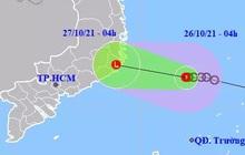 Áp thấp nhiệt đới hướng vào Khánh Hòa - Bắc Bình Thuận, miền Trung, Đông Nam Bộ mưa lớn
