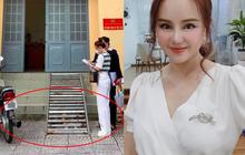 Hình ảnh Vy Oanh tại CQCA bị nghi kéo chân quá đà, netizen soi đúng chi tiết bánh xe và bậc thang nhô cao bất thường?
