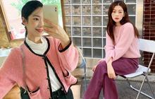 8 set đồ cao tay của gái Hàn chứng minh: Ai mua áo hồng là người đó tinh tế