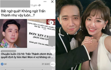 Đang yên đang lành, netizen bỗng lan truyền tin đồn Trấn Thành đơn phương ly hôn Hari Won gây phẫn nộ