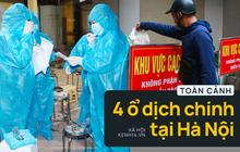 Toàn cảnh 4 ổ dịch Covid-19 tại Hà Nội: Liên quan tiệm cắt tóc, đám ma và nhiều cơ quan