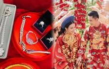 Gặp cô dâu chú rể trong đám cưới toàn vàng gây choáng váng: Của hồi môn 50 cây vàng, 1 căn nhà và bộ trang sức kim cương 26 tỷ