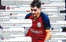 24h qua, thế giới bóng đá đồng loạt gửi lời động viên đến một cầu thủ, người duy nhất dũng cảm dám làm điều này