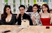 Việt Anh, Quỳnh Nga bị lu mờ bởi vòng 1 khủng của mỹ nhân này trong sinh nhật bạn thân