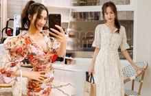 Đầu xuân Hòa Minzy mua váy hoa vintage, chị em muốn xinh như nàng thơ nên bắt chước