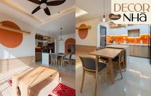 Căn hộ màu nâu cam đất xinh mê tơi: Phòng khách decor kiểu Nhật, chi phí nội thất hợp lý không ngờ