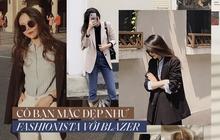 """Nhận ra blazer là """"chân ái"""", cô bạn ăn diện mỗi ngày chất như fashionista Hàn, ảnh street style đẹp như tạp chí"""