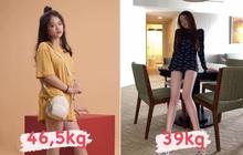 Tự ghép ảnh so sánh sự khác biệt sau khi sụt 7,5kg, Linh Ka khiến dân tình sốc vì đôi chân siêu thực