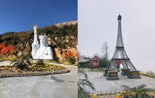Xôn xao với hình ảnh tháp Eiffel và tượng Nữ thần Tự do phiên bản fake trong khu du lịch ở Sa Pa, dân mạng rần rần rủ nhau đi xem tận mắt