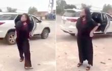 """Xác minh vụ việc người phụ nữ """"tụt đồ"""", chửi bới nhân viên trước cổng đền khiến nhiều người bức xúc"""