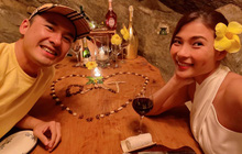 """Thuý Diễm - Lương Thế Thành trốn con đi hẹn hò: Mẹ bỉm khoe body gợi cảm, cưới 5 năm vẫn như hồi """"honeymoon"""" lãng mạn quá đi!"""